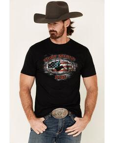 Cody James Men's Black Eight Second Ride Graphic T-Shirt , Black, hi-res
