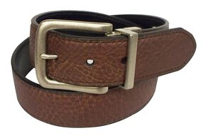 John Deere Reversible Brown & Black Leather Belt, Brown Multi, hi-res