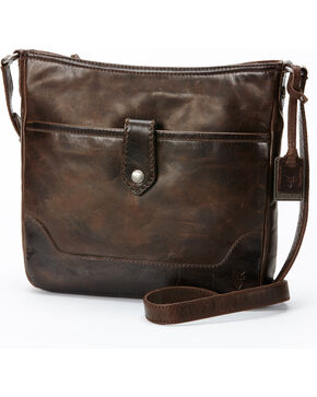 Frye Women's Melissa Button Crossbody Bag , Slate, hi-res