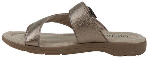 Eastland Women's SIlver Tahiti II Thong Sandals  , Silver, hi-res