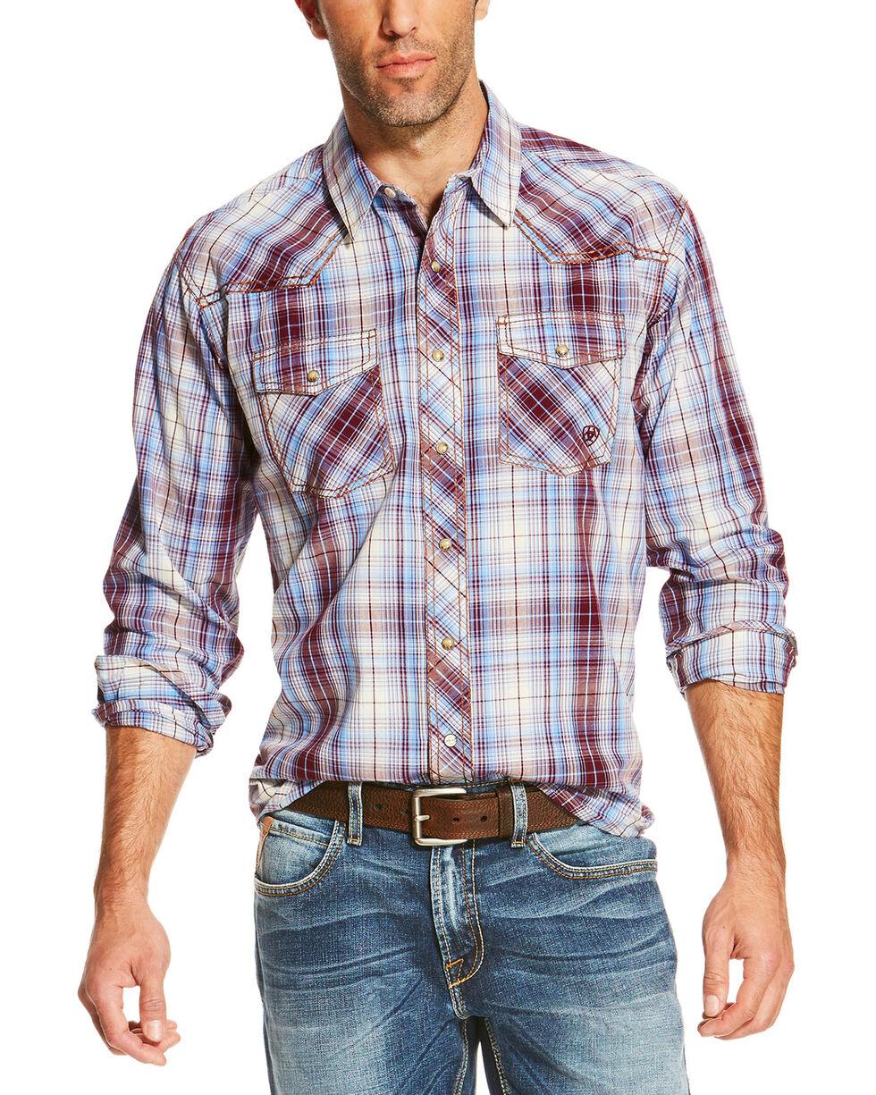 Ariat Men's Plaid Long Sleeve Shirt, Multi, hi-res