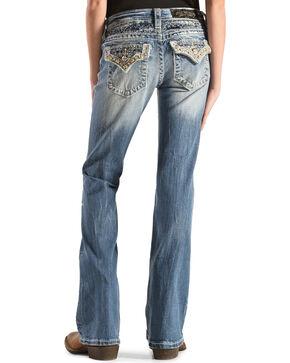 Miss Me Girls' Embellished Back Flap Pocket Jeans - Boot Cut , Denim, hi-res