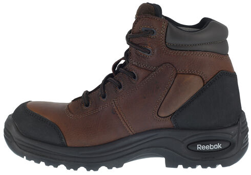 "Reebok Men's Trainex 6"" Lace-Up Work Boots - Composite Toe, Brown, hi-res"