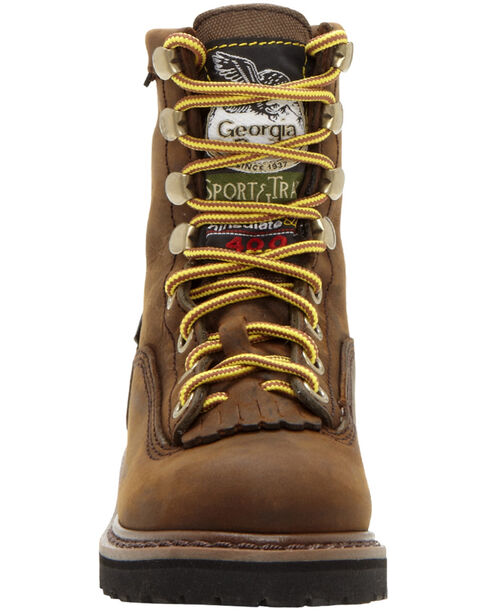 Georgia Youth Boys' Insulated Outdoor Waterproof Lace-Up Boots, Tan, hi-res