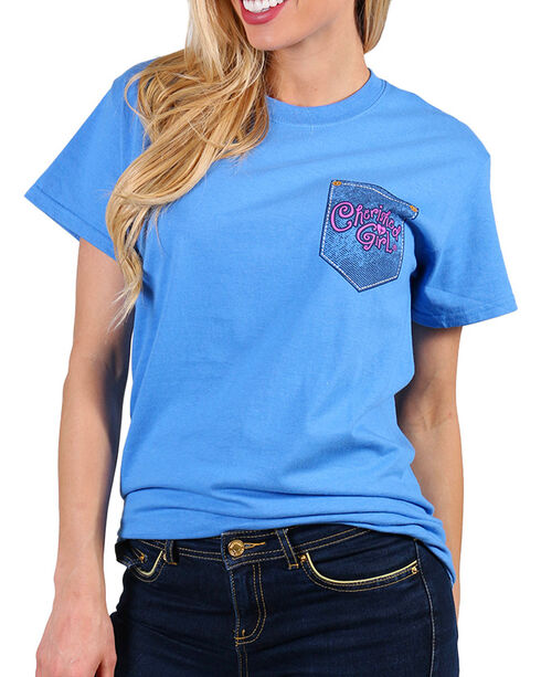 Cherished Girl Women's Blue Create In Me Tee , Blue, hi-res