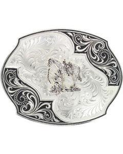 Montana Silversmiths Lace Whisper Flourish Belt Buckle, Silver, hi-res