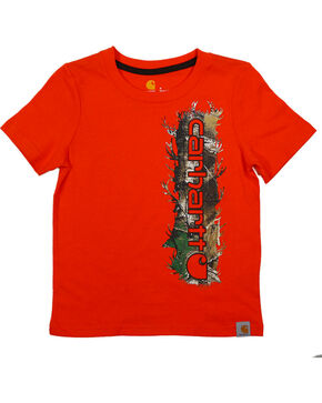 Carhartt Boya' Orange Vertical Camo Tee , Orange, hi-res