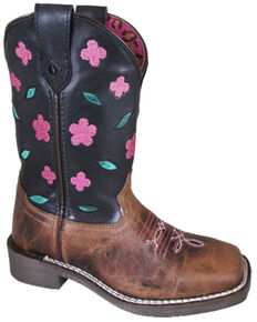 Smoky Mountain Youth Boys' Dogwood Western Boots - Square Toe, Brown, hi-res