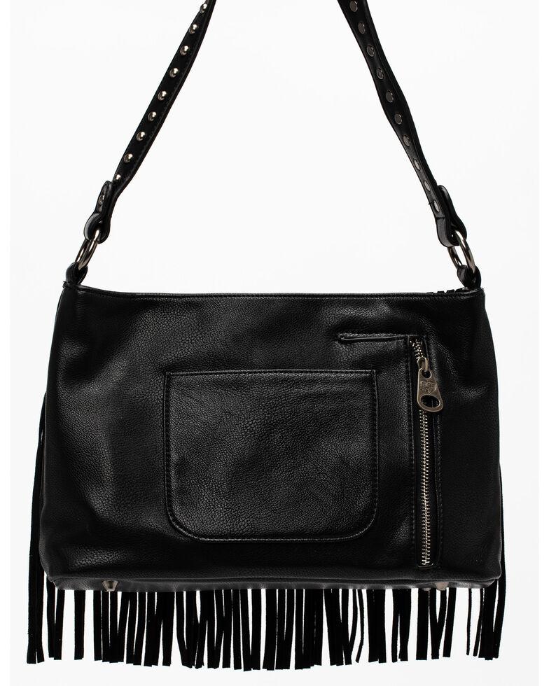 Shyanne Women's Black Fringe Tote Bag, Black, hi-res
