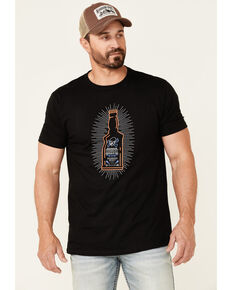 Moonshine Spirit Men's Neon Bottle Graphic Short Sleeve T-Shirt , Black, hi-res