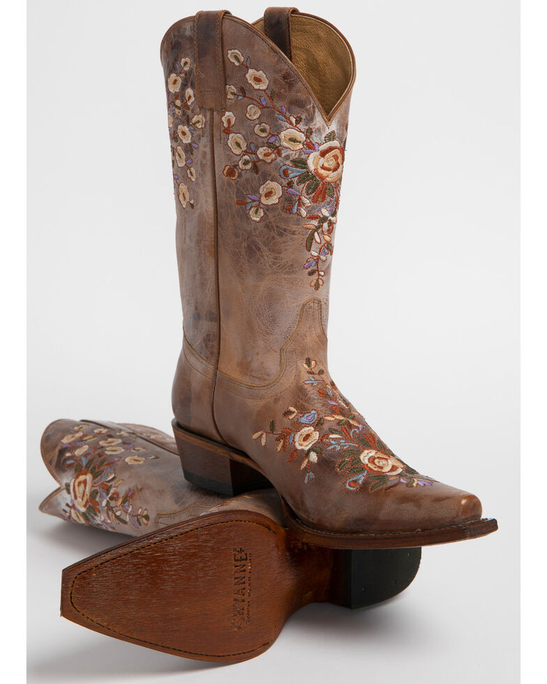 661e2b7434 Zoomed Image Shyanne Women's Floral Embroidered Western Boots - Snip Toe,  Brown, hi-res