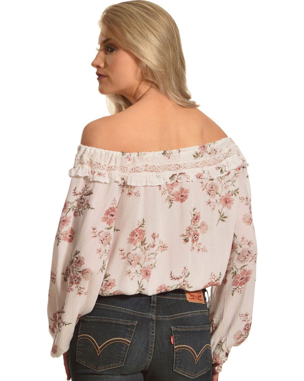 Sage The Label Women's Floral Print Ruffle Neck Top, , hi-res