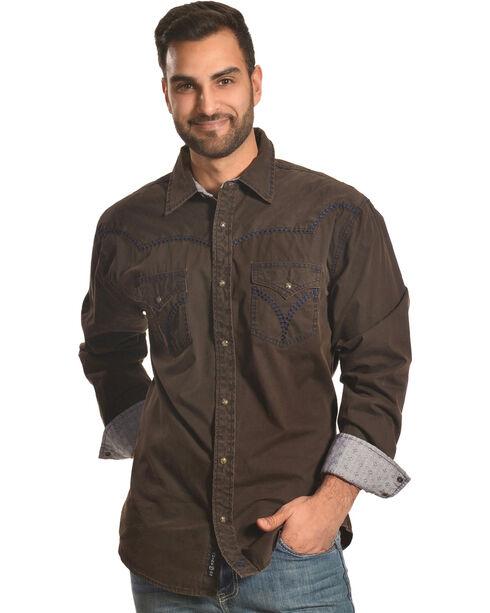 Moonshine Spirit Men's Jalisco Long Sleeve Shirt, Brown, hi-res