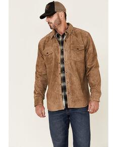 Moonshine Spirit Men's Tan Auckland Snap-Front Suede Shirt Jacket , Tan, hi-res