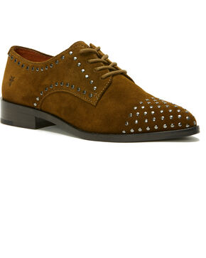 Frye Women's Khaki Erica Stud Oxford Shoes , Beige/khaki, hi-res