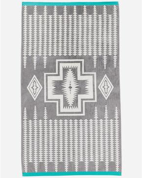 Pendleton Harding Jacquard Oversized Spa Towel, Grey, hi-res