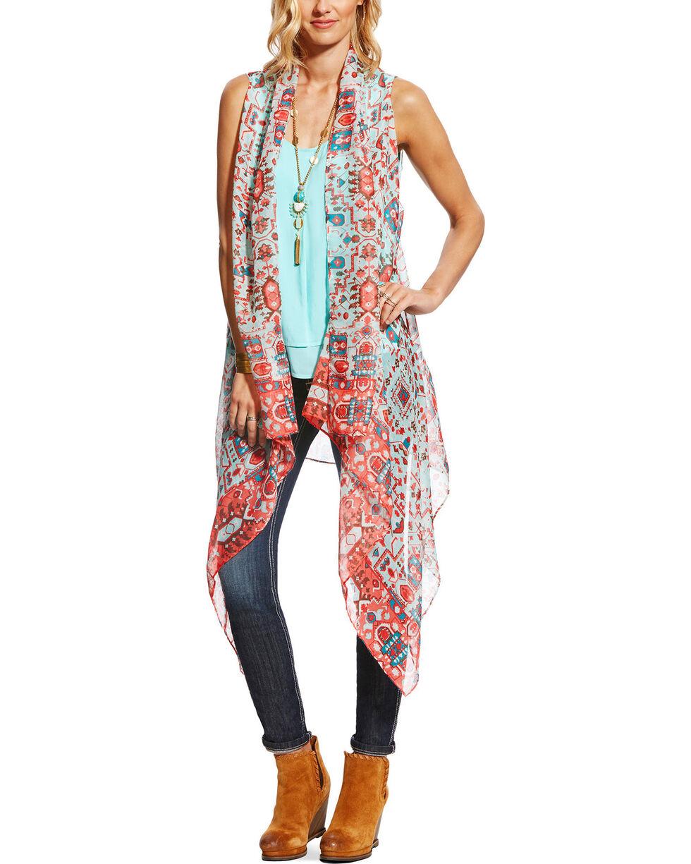 Ariat Women's Roaming Scarf Vest , Multi, hi-res