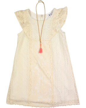 Shyanne Girls' Lace Dress, Ivory, hi-res