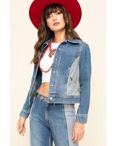 Lee Women's Contrast Denim Seamed Jacket , Blue, hi-res