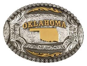 Cody James Oklahoma Oval Belt Buckle, Multi, hi-res
