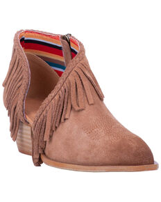 Dingo Women's Kindred Spirit Western Booties - Snip Toe, Tan, hi-res