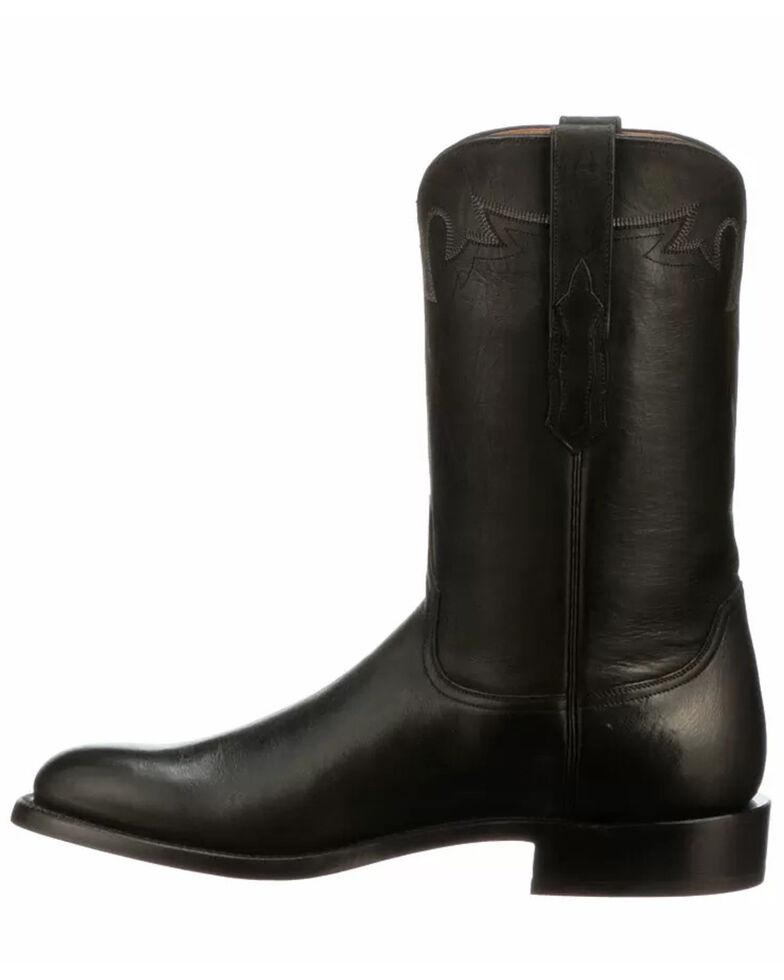 Lucchese Men's Black Sunset Roper Western Boots - Round Toe, Black, hi-res