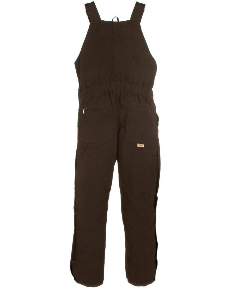 Berne Women's Washed Insulated Bib Overalls - Short, Dark Brown, hi-res