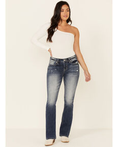 Miss Me Women's Serenity Bootcut Jeans, Blue, hi-res