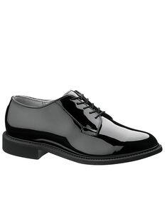 Bates Men's High Gloss Oxford Shoes, Black, hi-res