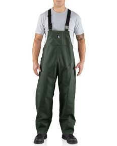 Carhartt Surry Rain Bib Overalls - Big & Tall, Green, hi-res