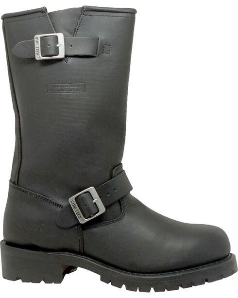 "Ad Tec Men's Heavy Duty 13"" Motorcycle Boots - Round Toe, Black, hi-res"