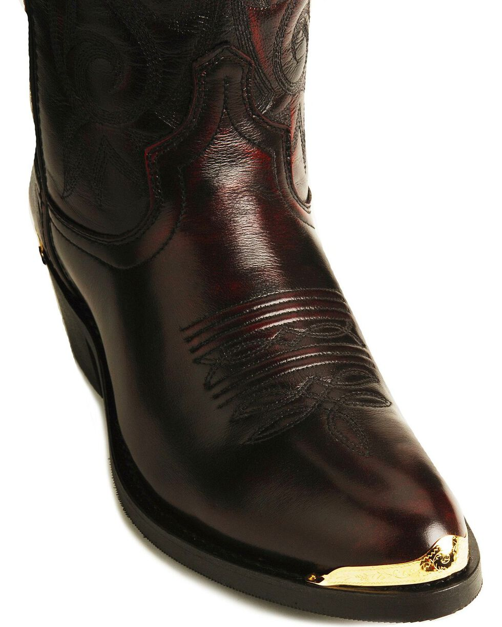 Laredo Trucker Cowboy Work Boots, Burnt Apple, hi-res