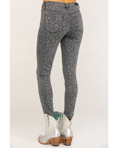 Miss Me Women's Grey Leopard Mid-Rise Ankle Skinny Jeans, Grey, hi-res