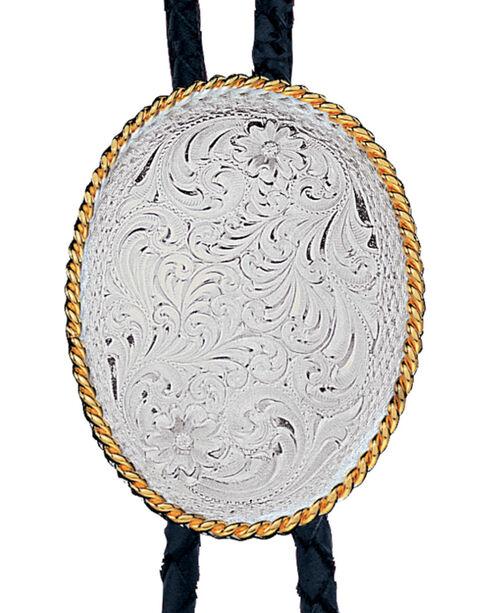 Montana Silversmiths Men's Engraved Silver Bolo Tie, Multi, hi-res