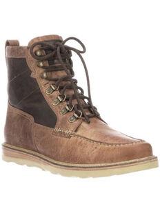 Lucchese Men's Lace-Up Range Boot - Moc Toe, Tan, hi-res