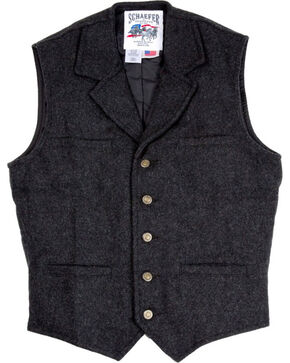 Schaefer Men's 707 McClure Wool Vest, Dark Grey, hi-res