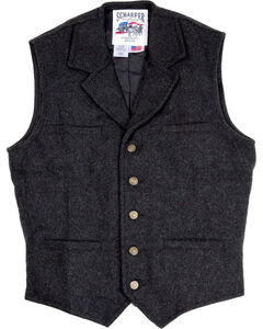Schaefer Men's 707 McClure Wool Vest - Big & Tall , Dark Grey, hi-res
