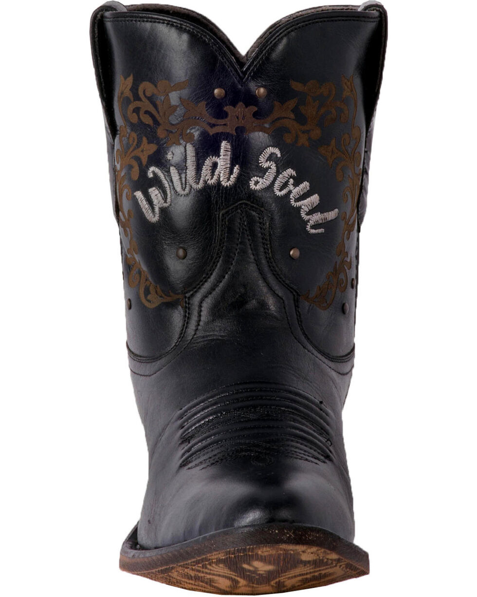 Laredo Women's Reckless Black Wild Soul Cowgirl Boots - Medium Toe, Black, hi-res
