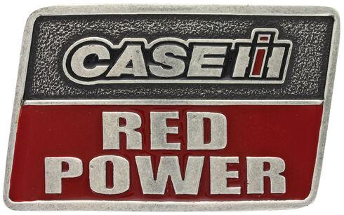 Montana Silversmiths Case IH Red Power Attitude Belt Buckle, Silver, hi-res