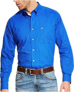Ariat Men's Blue Boyd Printed Long Sleeve Western Shirt - Tall , Blue, hi-res