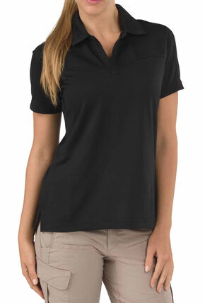 5.11 Tactical Womens Trinity Polo Shirt, Black, hi-res
