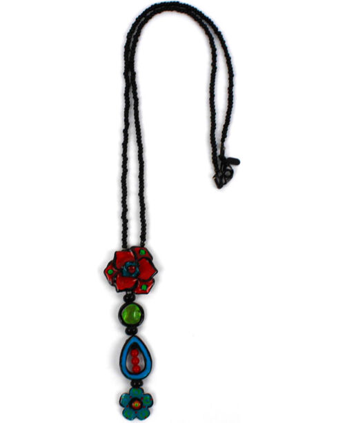 Treska Women's Long Beaded Pendant Necklace, Black, hi-res