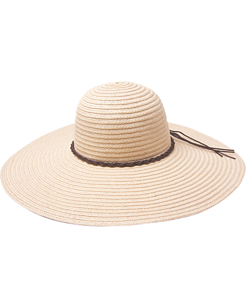 "Peter Grimm Robin 5"" Braided Sun Hat, Natural, hi-res"
