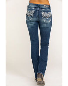 Grace in LA Women's Mid Boot Chevaztec Bling Jeans, Blue, hi-res