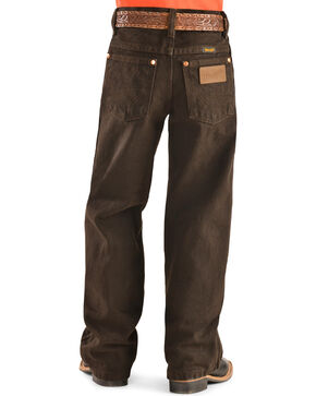 Wrangler Boys' 13MWJ Cowboy Cut Original Fit Jeans - 4-7, Chocolate, hi-res