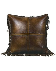 HiEnd Accents Austin Hand Stitched Cross Pattern Accent Pillow, Multi, hi-res