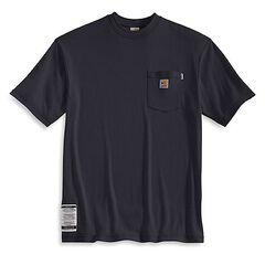 Carhartt Flame Resistant Short Sleeve T-Shirt, Navy, hi-res