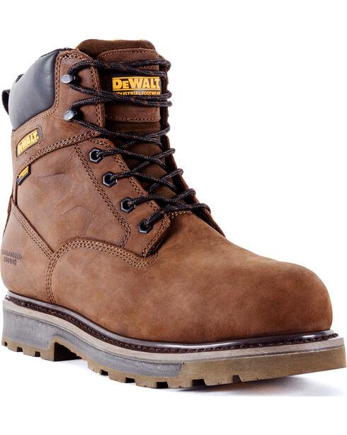 DeWalt Men's Tungsten Waterproof Work Boots - Aluminum Toe, Brown, hi-res