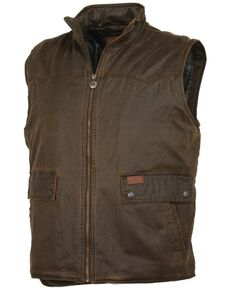 Outback Trading Co. Men's Landsman Vest, Brown, hi-res