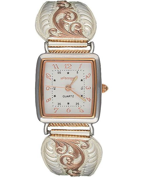 Montana Silversmith Women's Rose Gold Filigree Expansion Band Watch, Silver, hi-res